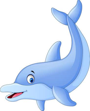 illustration of Cute dolphin cartoon Иллюстрация
