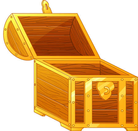 hoard: treasure box illustration Illustration
