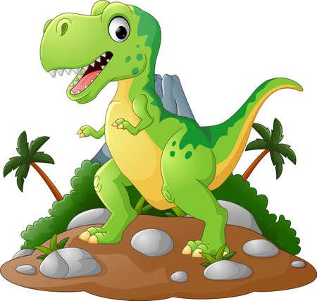 Cartoon Cute tyrannosaurus cartoon Illustration
