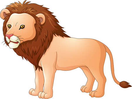 panthera: Cute lion cartoon Illustration