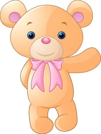 Happy brown bear cartoon