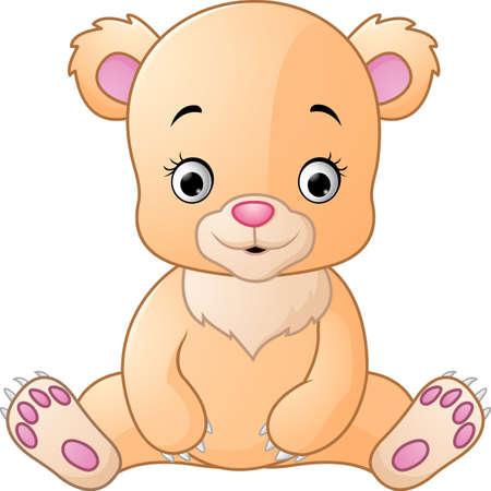 baby bear: Cute baby bear cartoon
