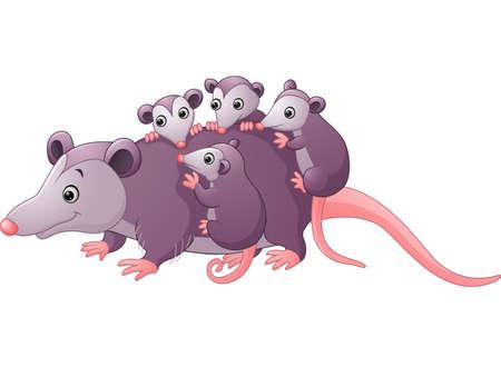feec14e06 Opossum stock vector illustration and royalty free opossum clipart jpg  450x339 Baby possum cartoon