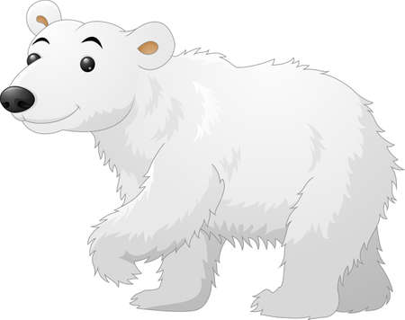 polar: White Polar Bear cartoon Illustration