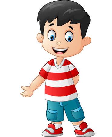 Cute boy standing Illustration