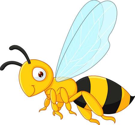 pollinate: illustration of Bee cartoon flying