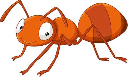 illustratie van Cute ant cartoon Vector Illustratie