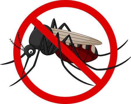 illustration of Stop mosquito cartoon