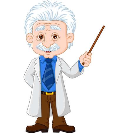 illustration of Professor explaining Illustration