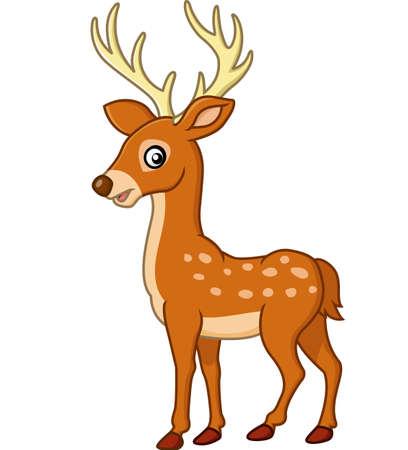Historieta linda de los ciervos Ilustración de vector