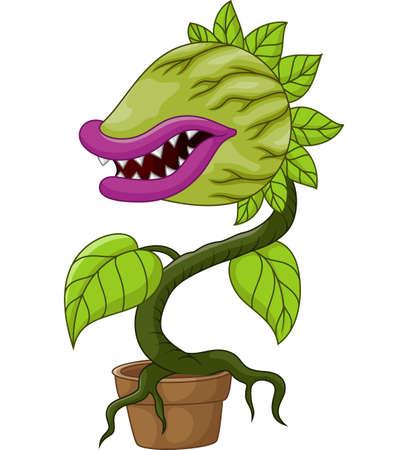 carnivorous: Cartoon carnivorous plant