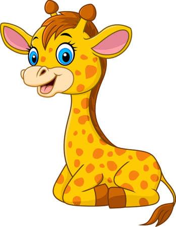 cría de jirafa de dibujos animados Ilustración de vector