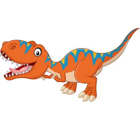 tyrannosaurus: Happy tyrannosaurus cartoon Illustration