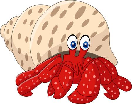 subaquatic: Cartoon hermit crab
