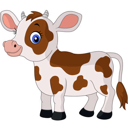 Happy cartoon cow Stock Vector - 61197806