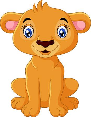 Cartoon lion isolated on white background