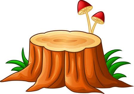 sliver: Illustration of tree stump and mushroom