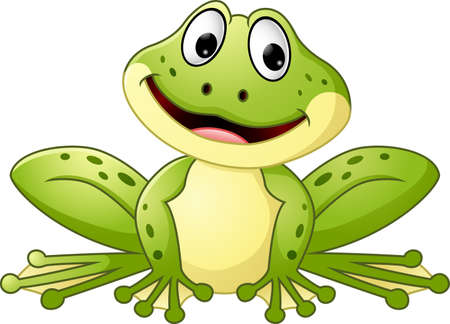 Cartoon cute frog Illustration