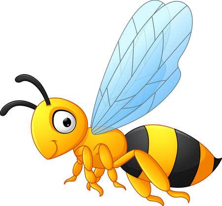 pollinate: Bee cartoon flying