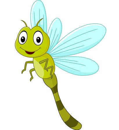 Cartoon funny dragonfly