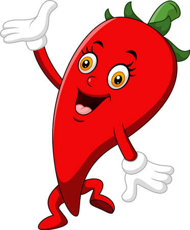 spicy mascot: Chili Cartoon Character