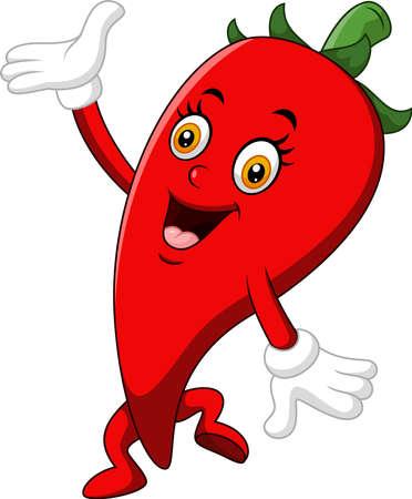 capsaicin: Chili Cartoon Character