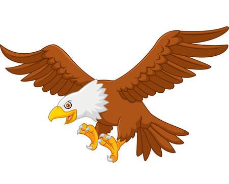 eagle flying: Cartoon eagle flying