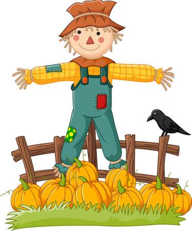 Cartoon scarecrow character