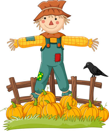 gleeful: Cartoon scarecrow character
