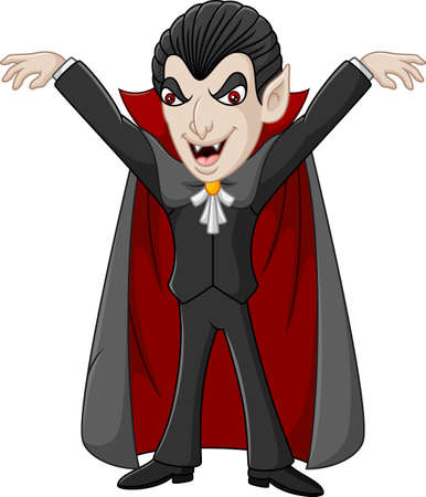 Cartoon vampire character