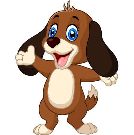 lie down: Cute dog presenting Illustration