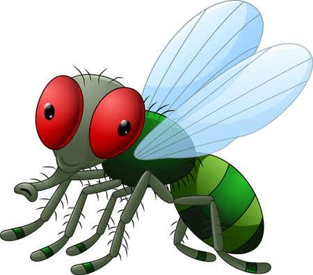 hairy legs: Cute little cartoon flies