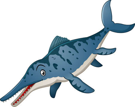 Funny Ichthyosaurus cartoon