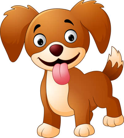 Cute dog isolated on white background Illustration