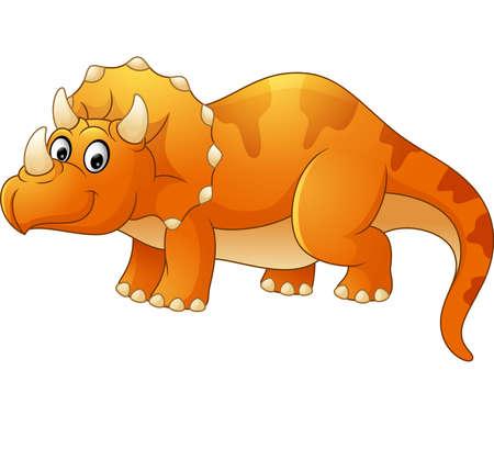 triceratops: Triceratops cartoon Illustration