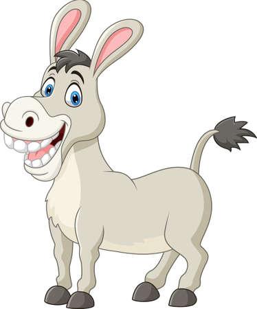 Cartoon funny donkey Ilustração