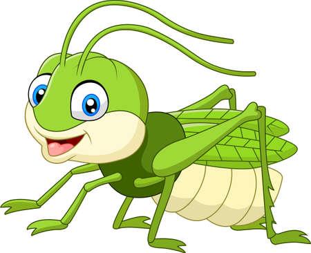 grig: Cute grasshopper cartoon Illustration