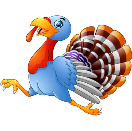 Cartoon turkey running