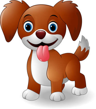 Vector illustration of Cute baby dog cartoon