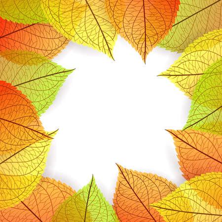 stylize: Vector illustration of Background with stylize autumn leaves Illustration