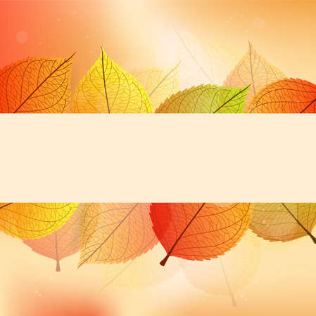 Vector illustration of Background with stylize autumn leaves Illustration