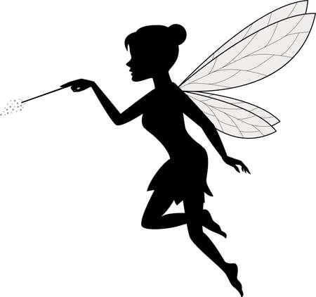 vector illustration of Fairy Waving Her Wand