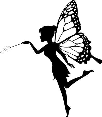 graphic relating to Printable Fairy Silhouettes titled Fairy Silhouette Inventory Visuals And Shots - 123RF