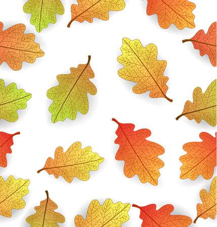 Illustrazione vettoriale di sfondo con foglie di autunno stilizzate Archivio Fotografico - 63540371