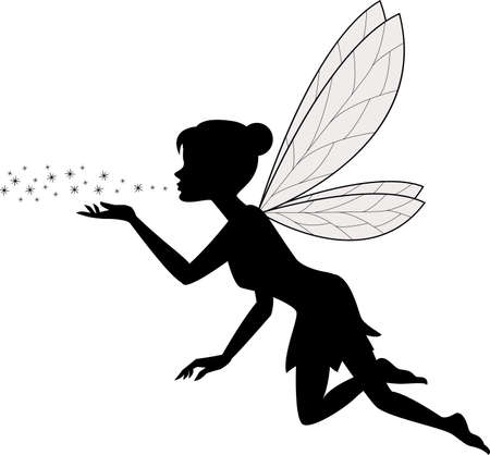 vector illustration of Cute fairy flying