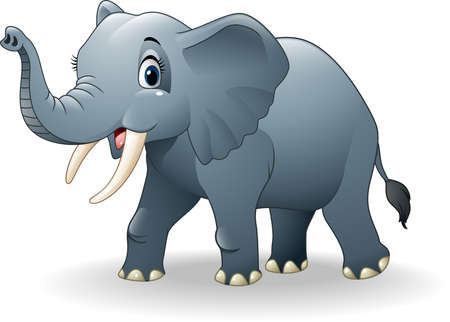 illustration of Happy elephant cartoon