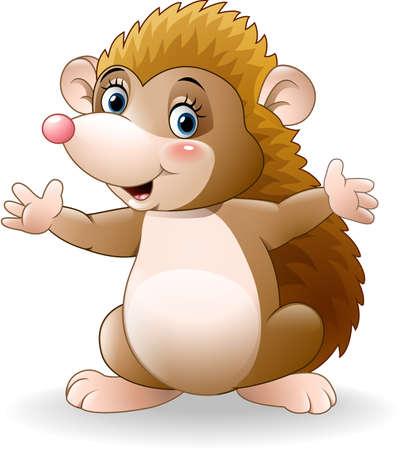 illustration of Cute hedgehog cartoon