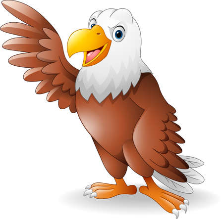 illustration of Cartoon eagle presenting