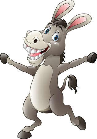 ilustración de dibujos animados divertido del burro