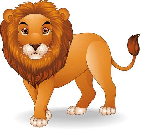 illustration of Cartoon lion character